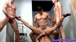 Very rough group sex for Alex Andrews 6 min